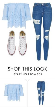 """By:Cuteskyiscute go follow her!!!"" by mylifeasmaddy25 ❤ liked on Polyvore featuring Topshop and Converse"