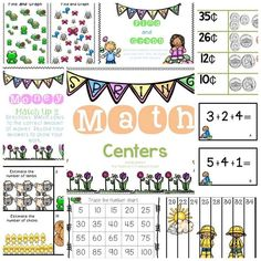 April Math Centers for 1st Grade