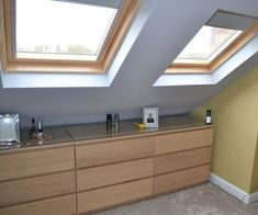 Loft conversion bedroom with velux ( IKEA malm units) Attic Bedrooms, Upstairs Bedroom, Attic Bathroom, Attic Loft, Loft Room, Bedroom Loft, Loft Conversion Cost, Loft Conversion Bedroom, Loft Conversions