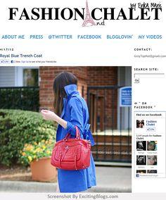 Blue Trench Coat, Video 4, Fashion Blogs, Lancaster, Royal Blue, Fashion Styles