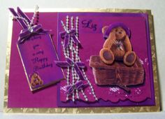 Card with a Teddy bear ..a commission