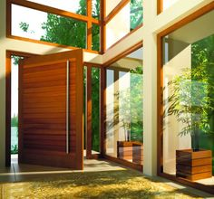 My Dream Home MUST have a pivot door at the entrance! Soooo awesome!