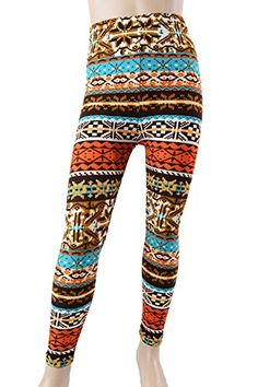 L4U Girls Multicolored Aztec Printed Fashion Leggings. Available in two sizes: S/M, and L/XL.