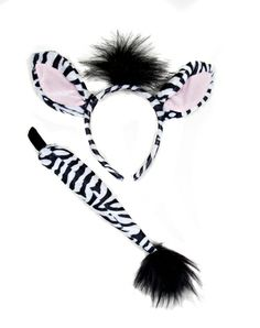 Zebra Costume Kit - When you hear the sound of thundering hooves it's usually wild horses, but every once in a while it's a zebra. Lion King Musical, Lion King Jr, Family Costumes, Diy Costumes, Halloween Costumes, Halloween Accessories, Hair Accessories, Fancy Dress Diy, Halloween Makeup