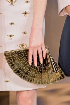 Kate Spade Golden Fan Minaudière