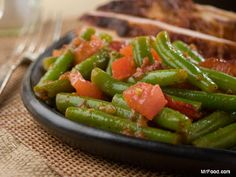"""PENNSYLVANIA DUTCH GREEN BEANS RECIPE: ~ From: """"MR.FOOD.COM"""" ~ Recipe Courtesy Of: """"MR.FOOD TEST KITCHEN """". ~ Cooking Time: 15 min; Yield: (6 servings). NOTE: To blanch, cook the green beans in boiling water 3 to 5 minutes, drain, then plunge into cold water. *** The garden fresh taste of our Amish-inspired Pennsylvania Dutch Green Beans that come with a hint of savory bacon, is sure to warrant second helpings at dinner time   ."""