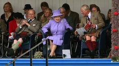 The Queen has made her annual appearance at the Braemar Highland Games.  She was joined by the Duke of Edinburgh, the Prince of Wales and the Princess Royal at the gathering in the Aberdeenshire village on Saturday.