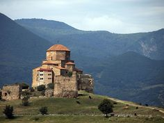 """The former capital of Georgia, referred to as the spiritual heart of the country, has three picturesque, clifftop medieval churches. Sadly, lack of preservation and unaddressed deterioration of the architecture and artwork have landed this site on UNESCO's """"at-risk"""" list. —Lianna Trubowitz Read more: Incredible UNESCO Sites in Danger of Disappearing"""