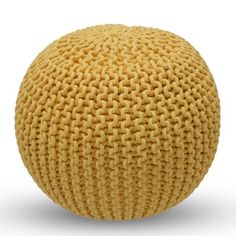 Find it at the Foundary - Knitted Pouf - Yellow