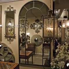 Stunning Black Arch Wall / Floor Mirror - Zinc Decor