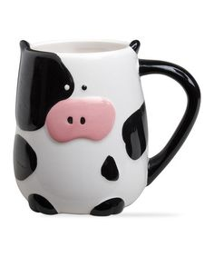 Another great find on #zulily! Cow Mug #zulilyfinds