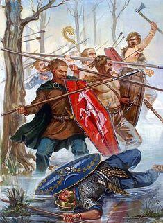 German warriors, 2nd century A.D.