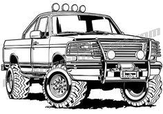 Ford clip art, Chevy clip art, car clip art, t shirt design, Harley Davidson clip art Classic Trucks For Sale, Classic Ford Trucks, Chevy Classic, Lifted Chevy Trucks, 4x4 Trucks, Chevy Pickups, Chevy For Sale, Harley Davidson, Truck Coloring Pages