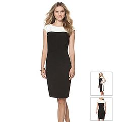 Chaps® Colorblock Day Dress 		 at www.younkers.com