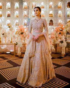 (C) Jasleenpowar | (C) Amreensandhu | (C) Mannatgill | Bridal lehenga | Pastel brides #bridallehenga #pastelbrides #pastellehenga #weddingdecor #bridaltrends Indian Bridal Fashion, Indian Fashion Dresses, Stylish Dresses, Nice Dresses, Awesome Dresses, Pastel Wedding Dresses, Bridal Lehenga Collection, South Indian Bride, Traditional Outfits