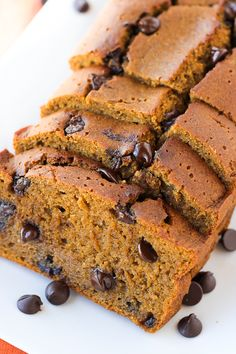 Gluten-Free Pumpkin Chocolate Chip Bread {Maple-Syrup Sweetened, Dairy-Free} | Meaningful Eats
