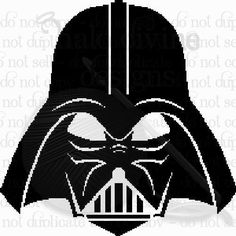 Darth Vader Crochet Graph Stencil Cakes Vector