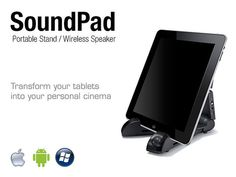 Turn Your Tablet Into A Mobile Movie Theater - The BiONN SoundPad Is Your Portable Entertainment Solution