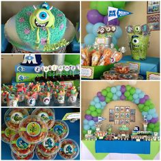 MoNstErs UniVeRsiTy paRty! Sweet table, decotation and cake