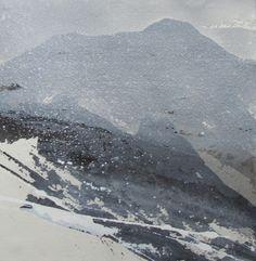 """A'Chrois"" by David Ross - ink landscape"