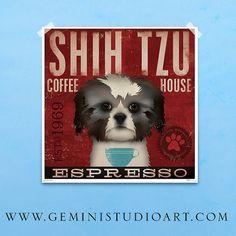 Impresión de Shih Tzu Coffee Company original por geministudio