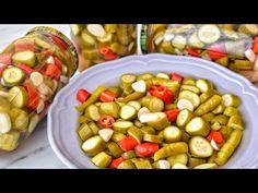 HEMEN YAP 🔝 KÜTÜR KÜTÜR YE 5 GÜN SONRA HAZIR ÇITIR YAZ TURŞUSU / PRATİK TURŞU TARİFİ / TURŞU YAPIMI - YouTube Food Preparation, Fruit Salad, Pickles, Biscuits, Cereal, Salads, Food And Drink, Yummy Food, Diet