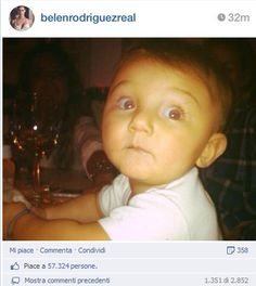 #Belen Rodriguez attaccata su Facebook dopo l'ennesima foto di Santiago