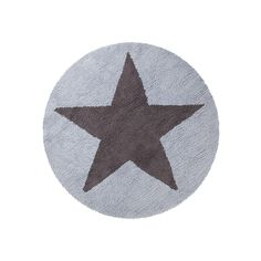 Washable Rug Reversible Star Blue-Dark Grey / Alfombra lavable Reversible Estrella Azul-Gris Oscuro Lorena Canals