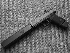 Suppressed, pistol, glock 19, 9mm, guns, weapons, self defense, protection, 2nd amendment, America, firearms, munitions #guns #weapons