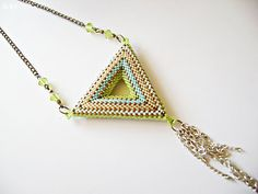 Beaded Pendant Necklace by Dulcey Heller