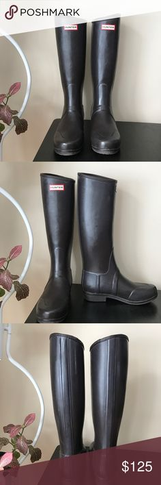 Sandhurst Equestrian Hunter Boots Like new. Minimal wear. Rare, hard to find. Sandhurst equestrian style boot. Just polished, authentic Hunter rainboots. Size 6. Chocolate brown color. See photos for detail. Please do not hesitate to ask any questions prior to purchase. All my items come from a smoke free home. Thanks for looking and happy shopping! 🙂 Hunter Boots Shoes Winter & Rain Boots