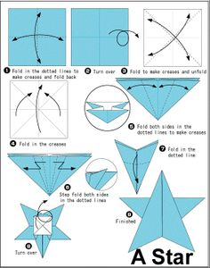 Simple Steps To Make Origami Star DIY HowTo