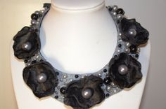 Pearls - handmade statement necklace. For sale.