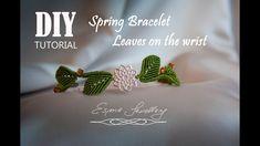 Łatwa bransoletka z listkami Tutorial. Easy leaves bracelet DIY. Pulsera de hojas. Macramé. - YouTube