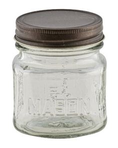 Amazon.com: CandleScience 8 Ounce Mason Jar with Rustic Lid, 12 pc: Home & Kitchen
