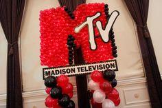 MTV Themed Balloon Sculpture with Custom Sign