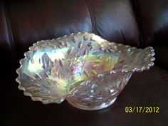Westmoreland Carnival Glass Wildflowers and Lace Bowl | eBay