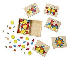 Melissa & Doug 10029 - Blocks und Brettchen mit Vorlagen: Amazon.de: Spielzeug