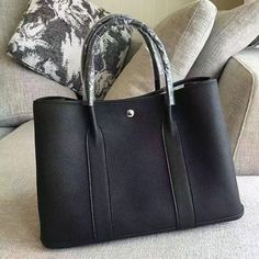 6e4f86031b21 Garden Party 36 30 Tote Bag in Imported Togo Leather Black Hermes Garden  Party