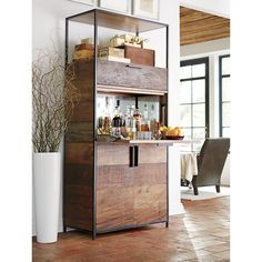 Clive Bar Cabinet in Bar Cabinets & Bar Carts | Crate and Barrel