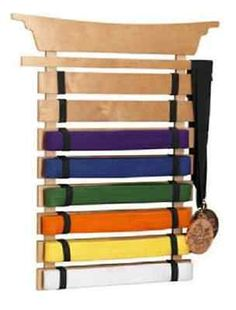 Wall-Mounted-Rack-Martial-Arts-Belt-Display-Karate-Taekwondo-Medal-Trophy-Holder