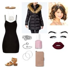 """""""Best friend's sweet 16"""" by skylasimshauser on Polyvore featuring Express, Jennifer Zeuner, City Classified, INC International Concepts, Melissa Odabash, Shoreditch, Alex and Ani, Essie and MICHAEL Michael Kors"""