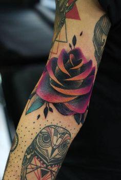 Giena Todryk #taktoboli #gienatodryk #amazingtattoo #tattoo #inked #ink #todryktattoo #todriktattoo #color #kolor #roza #rose