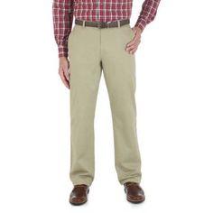 Wrangler Men's Advanced Comfort Performance 4Way Flex Pant, Size: 34 x 32, Beige