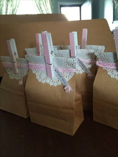 Shabby chic 1st Communion favors.
