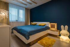 Modern bedroom. #petrolblue #bedroom #minimalist #apartmanicadonovaly Modern Bedroom, Minimalist, Furniture, Home Decor, Homemade Home Decor, Bedroom Modern, Home Furnishings, Contemporary Bedroom, Interior Design