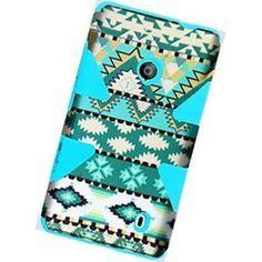 Triad Hybrid Case for Nokia Lumia 521 (T-Mobile) (Mint Green Aztec/Cool Blue)