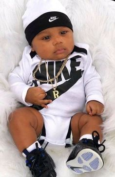 Baby Boy Swag, Cute Baby Boy Outfits, Cute Outfits For Kids, Cute Baby Clothes, Cute Black Baby Boys, Beautiful Black Babies, Cute Baby Girl, Mixed Baby Boy, Cute Mixed Babies