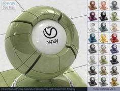 Vray Ceramic tile Materials 3D Модель .max .c4d .obj .3ds .fbx .lwo .stl @3DExport.com by ARHIGREGDESIGN