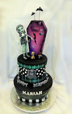 Whimsical Frankie Stein - Monster High Cake, By Cake Rhapsody.